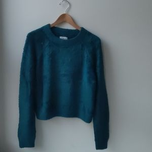 Lou & Grey Cozy Sweater Crop Teal